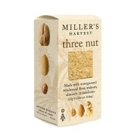 Three Nut cheese biscuits from Millers Harvest