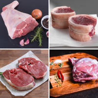 Quarter goat meat box