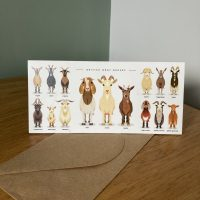 goat breeds greeting cards